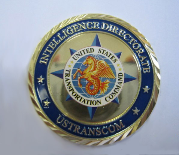 Customizable 3-D Challenge Coins