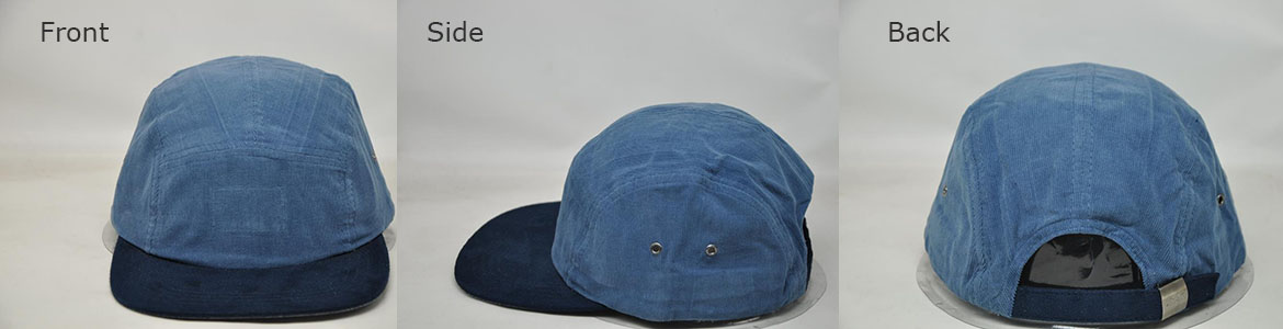 Customizable two tone blue denim ball cap