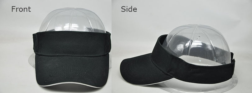 Customizable Black Visor Hat